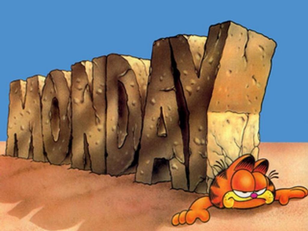 Cartoons Wallpaper: Garfield vs Monday