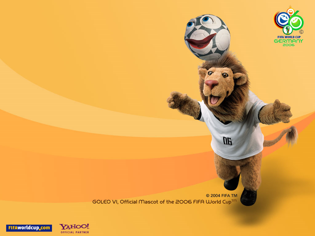Cartoons Wallpaper: Goleo Vi - Official Mascot of the 2006 FIFA World Cup