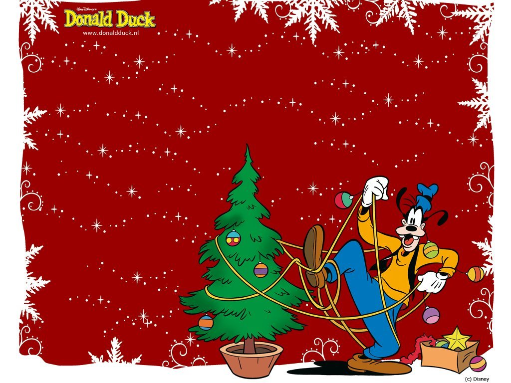 Cartoons Wallpaper: Goofy - Christmas Tree