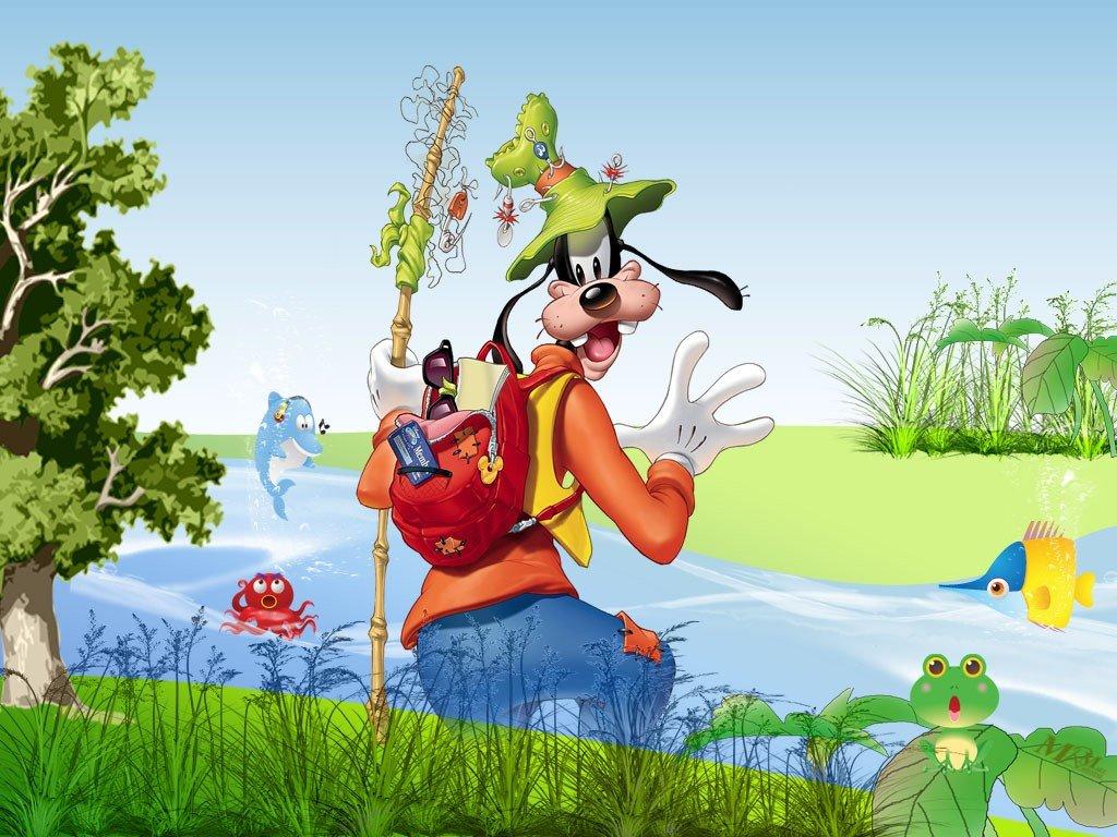 Cartoons Wallpaper: Goofy - Fishing