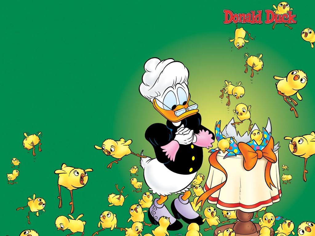 Cartoons Wallpaper: Grandma Duck