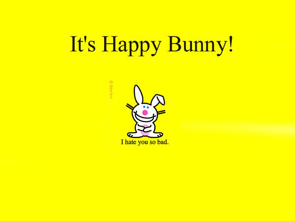 Cartoons Wallpaper: Happy Bunny - I Hate You