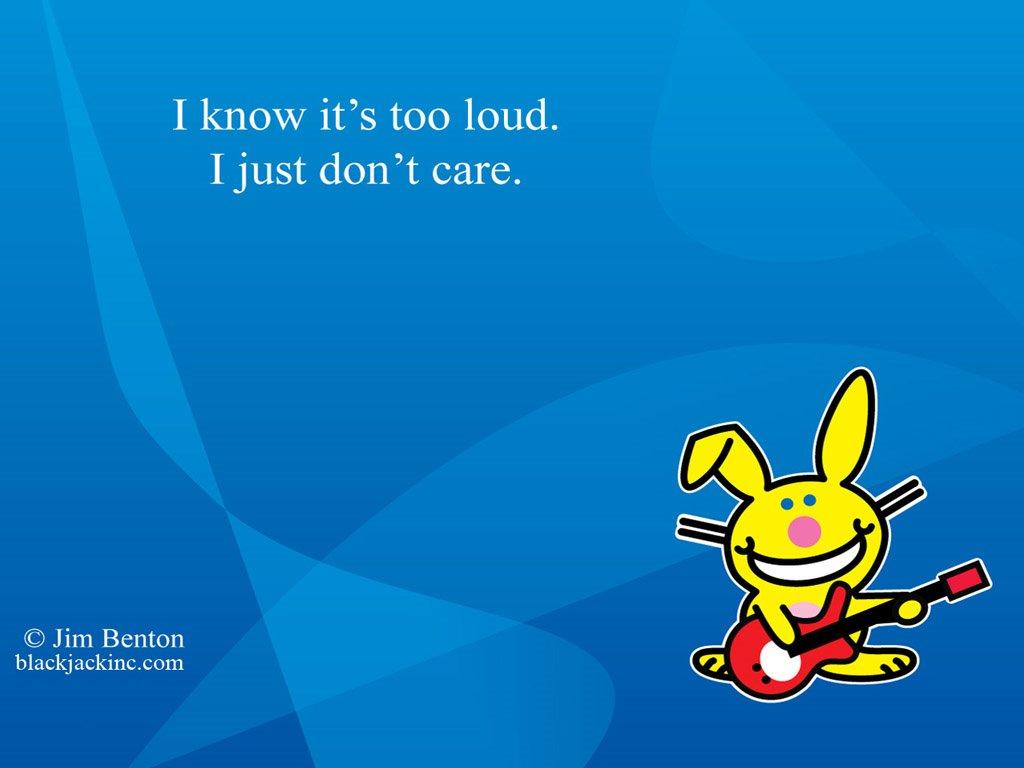 Cartoons Wallpaper: Happy Bunny