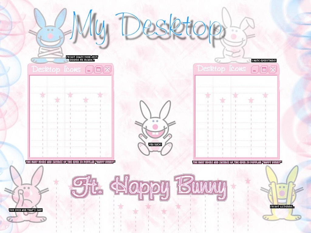 Cartoons Wallpaper: Happy Bunny