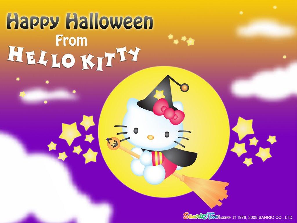 Cartoons Wallpaper: Hello Kitty - Halloween