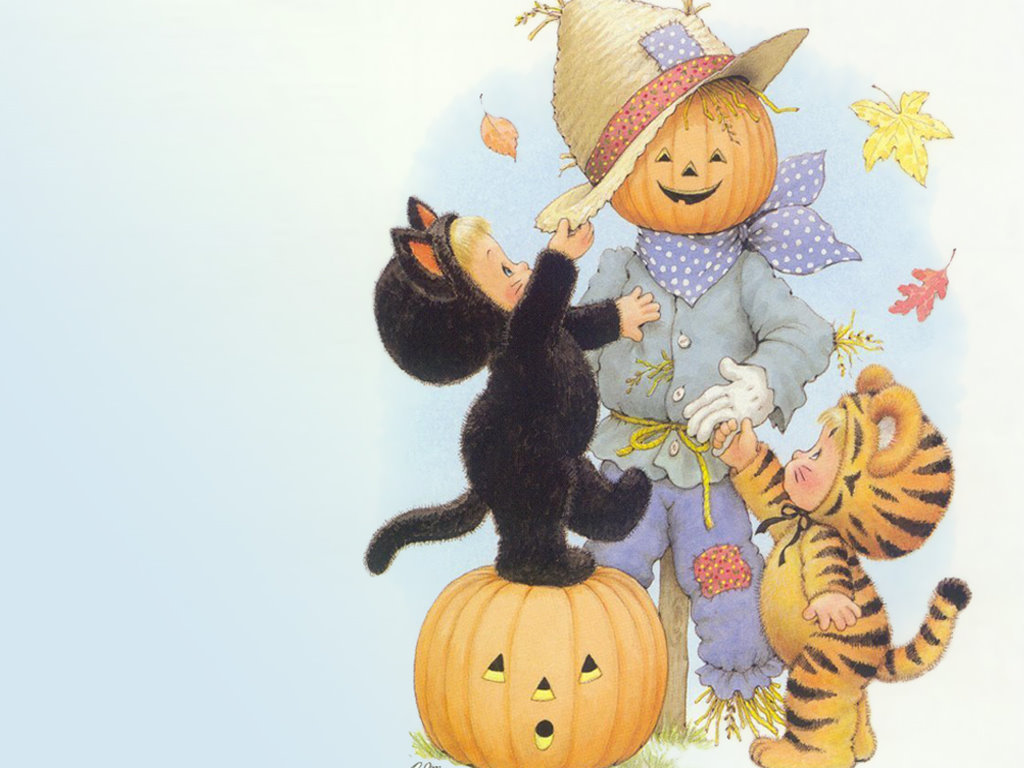 Cartoons Wallpaper: Happy Halloween - Vintage