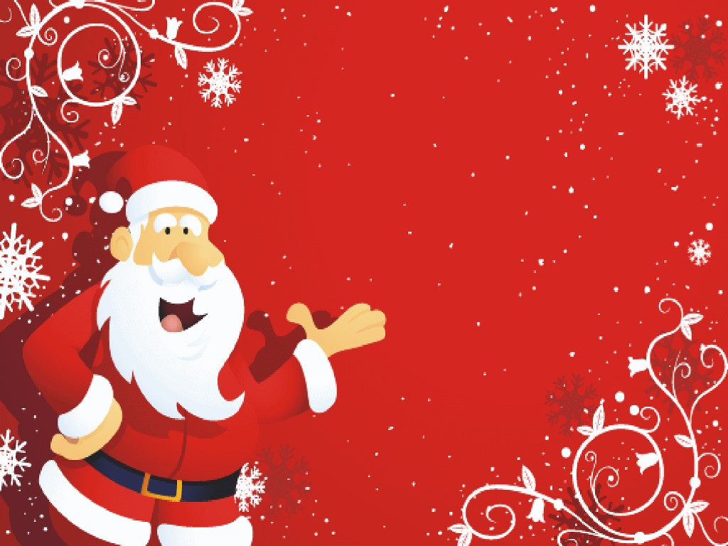 Cartoons Wallpaper: Happy Santa