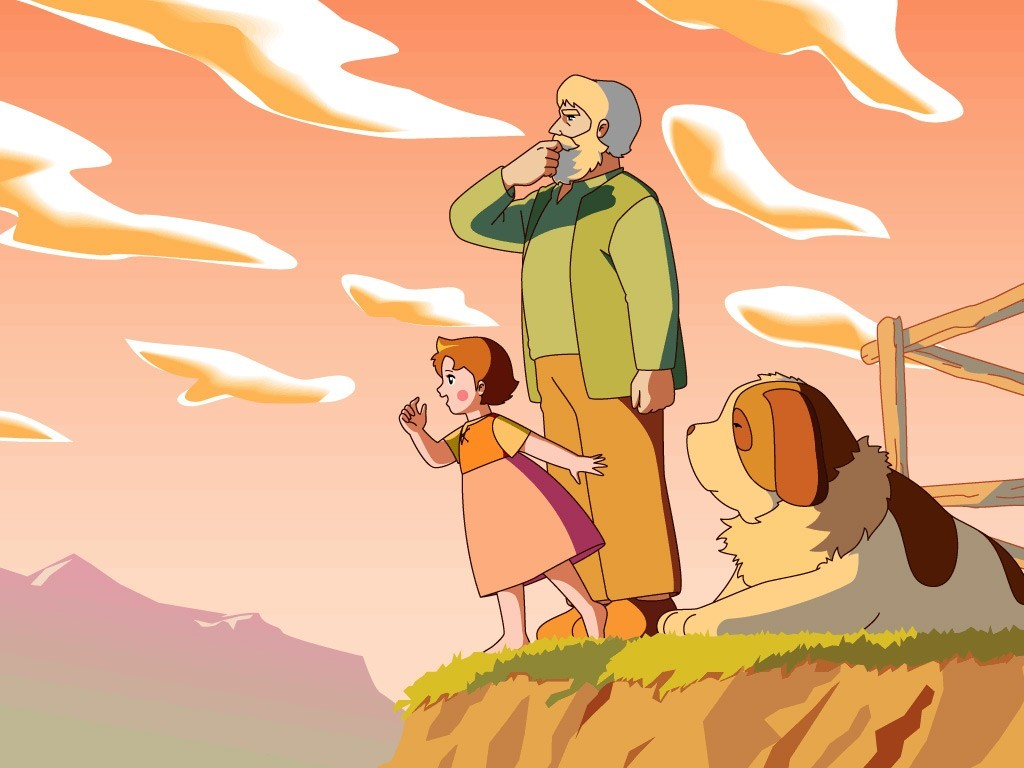 Cartoons Wallpaper: Heidi