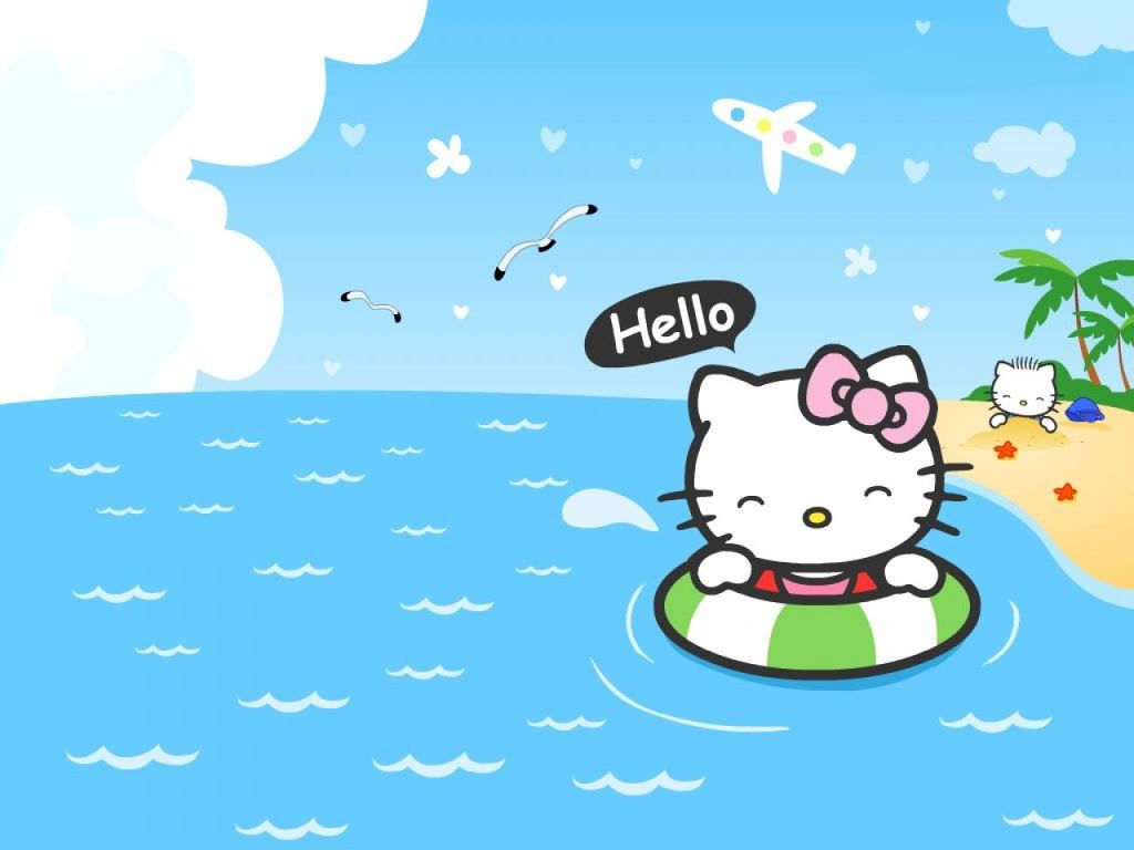 Cartoons Wallpaper: Hello Kitty - Beach