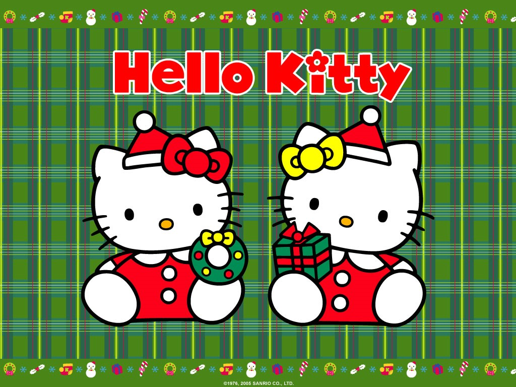 Cartoons Wallpaper: Hello Kitty - Christmas