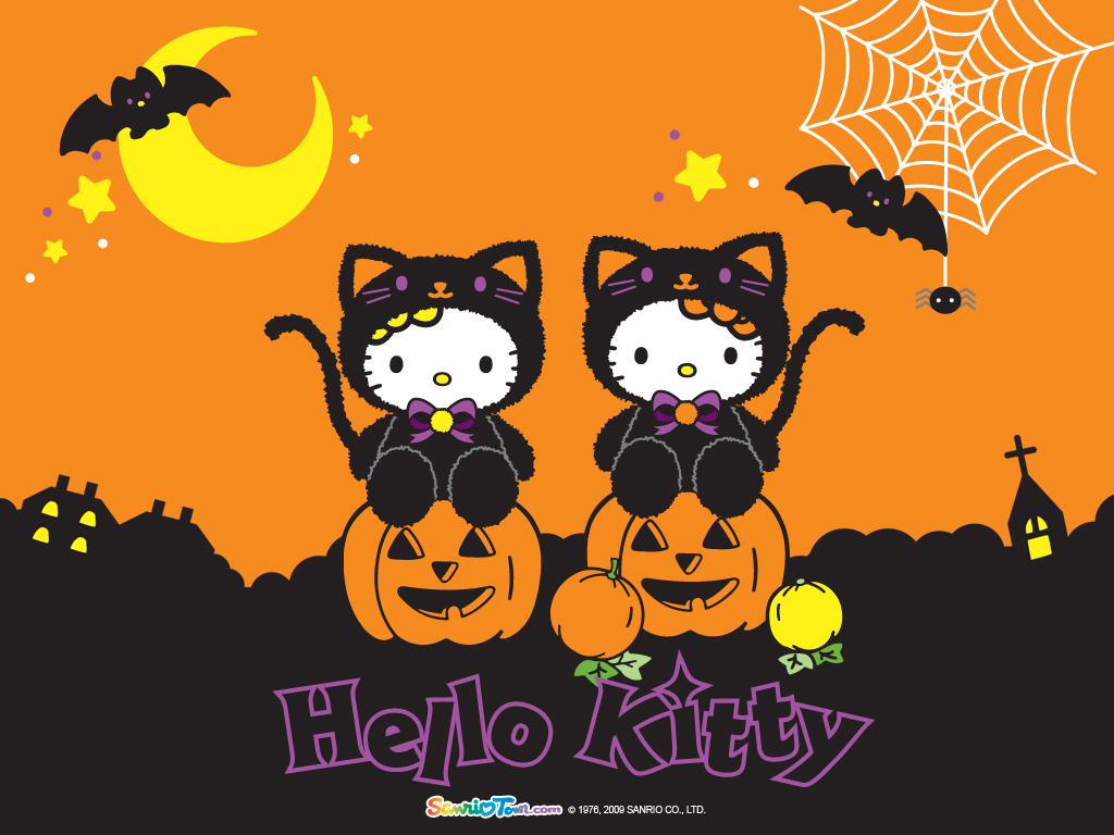 Cartoons Wallpaper: Hello Kitty - Halloween