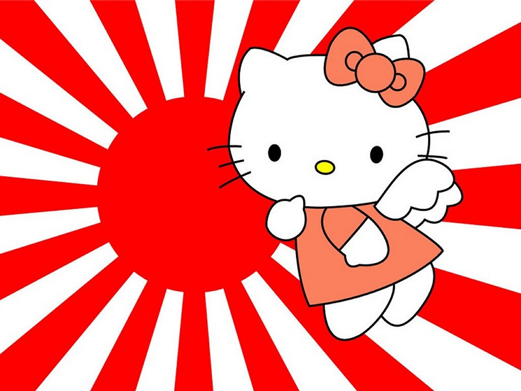Cartoons Wallpaper: Hello Kitty - Rising Sun