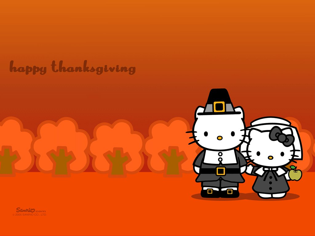 Cartoons Wallpaper: Hello Kitty - Thanksgiving