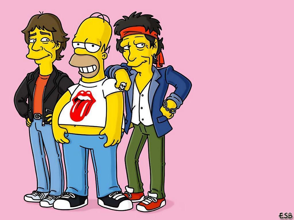 Cartoons Wallpaper: Homer and Stones