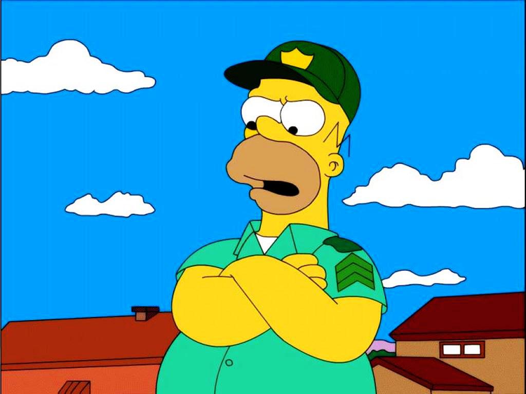 Cartoons Wallpaper: Homer - Scout