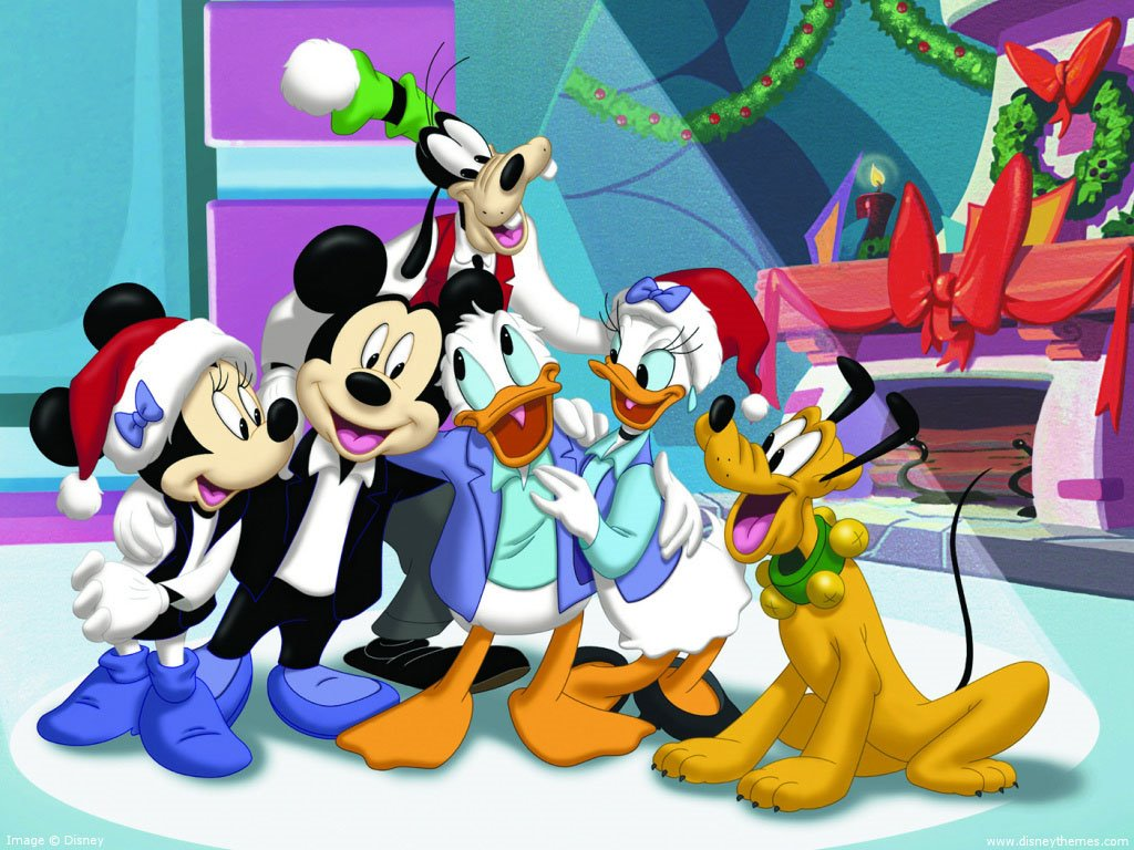 Cartoons Wallpaper: House of Mouse - Christmas
