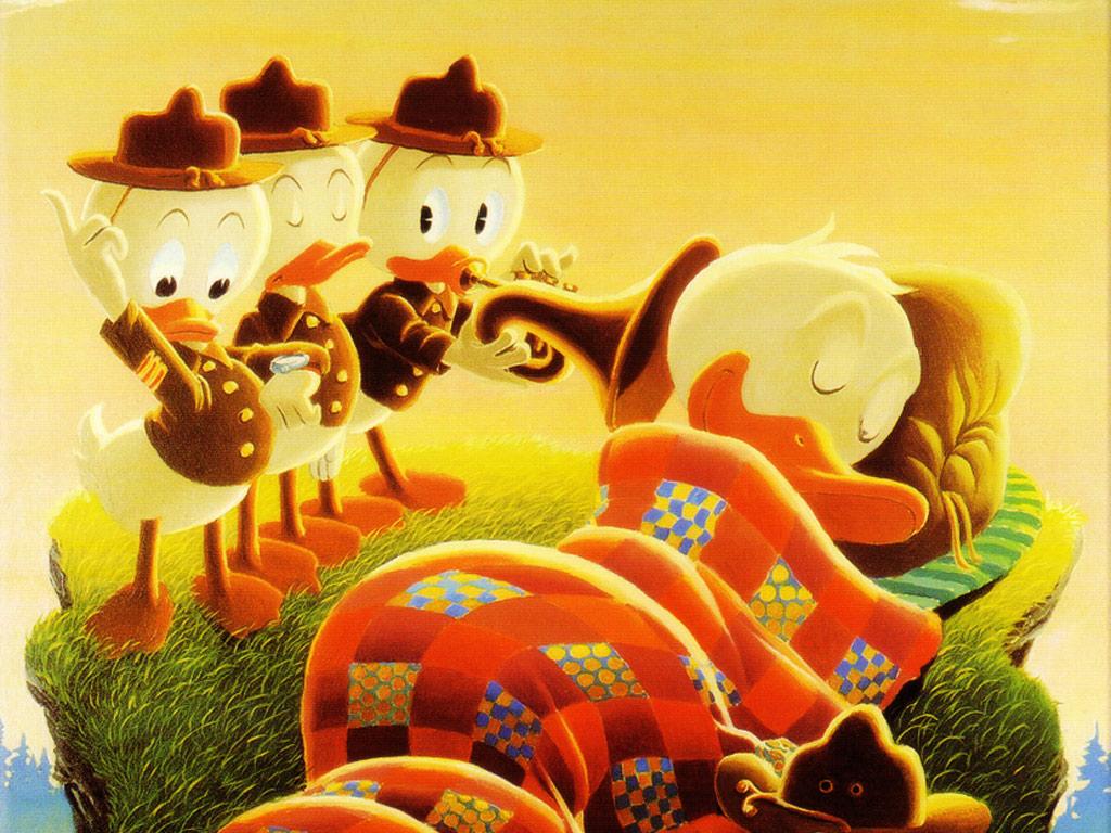 Cartoons Wallpaper: Huey, Dewey and Louie - Boy Scouts