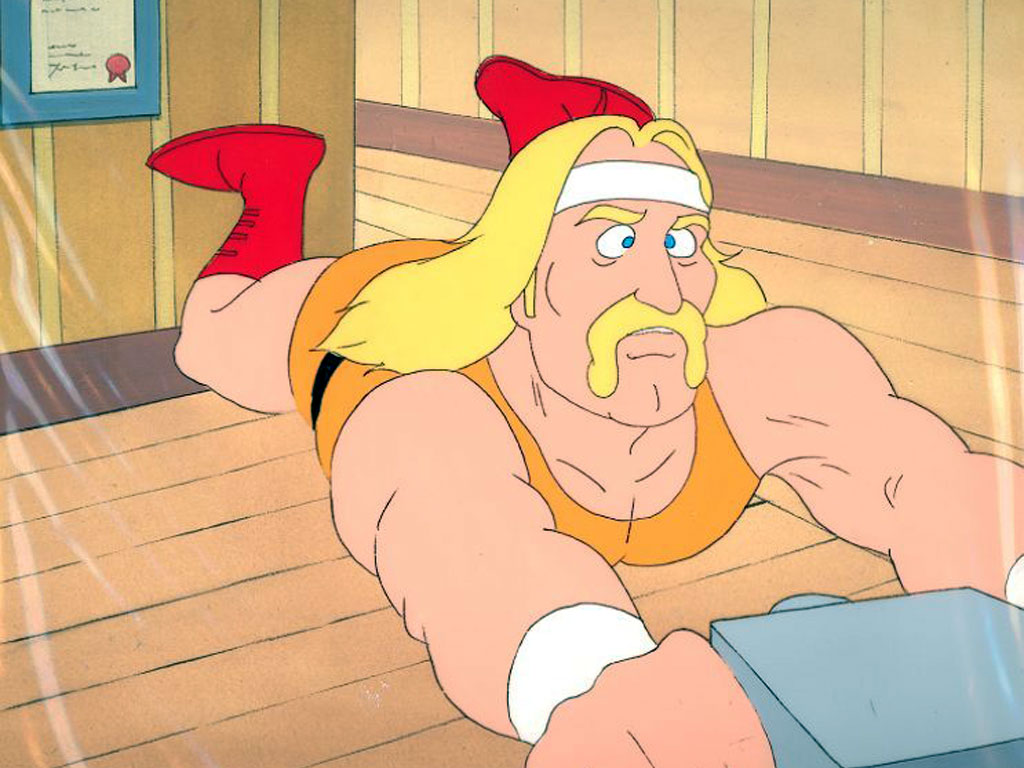 Cartoons Wallpaper: Hulk Hogan - Rock and Wrestling