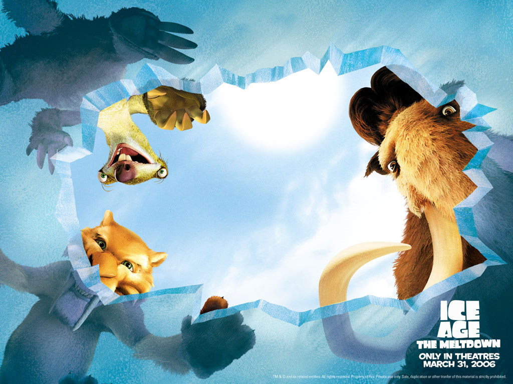 Cartoons Wallpaper: Ice Age 2 - The Meltdown
