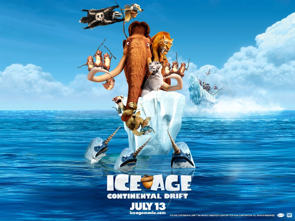 Cartoons Wallpaper: Ice Age - Continental Drift