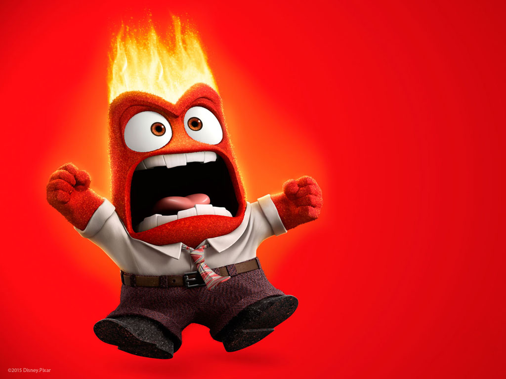 Cartoons Wallpaper: Inside Out - Anger