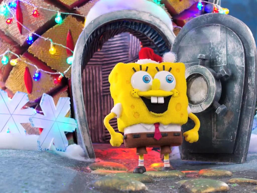 Cartoons Wallpaper: Spongebob - Christmas