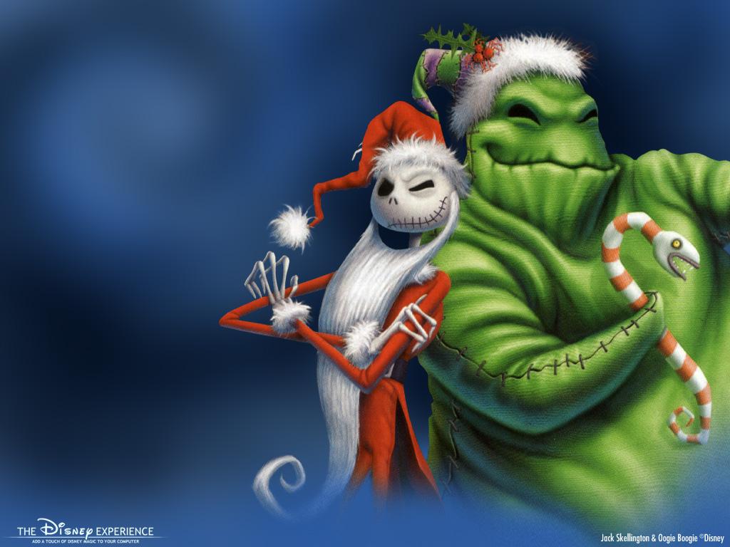 Cartoons Wallpaper: Jack Skellington and Oogie Boogie - Christmas