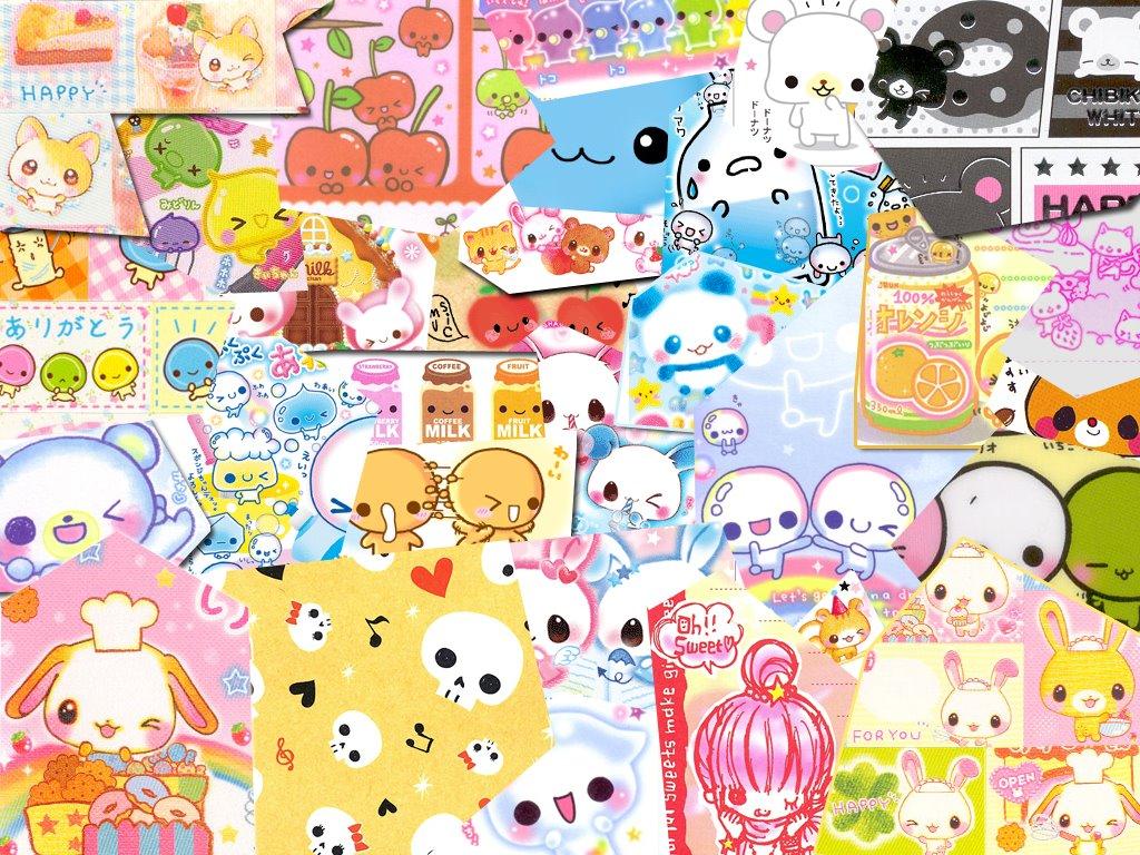 Cartoons Wallpaper: Kawaii - Collage