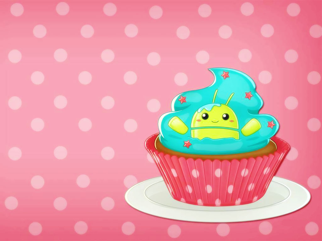 Cartoons Wallpaper: Kawaii - Cupcake