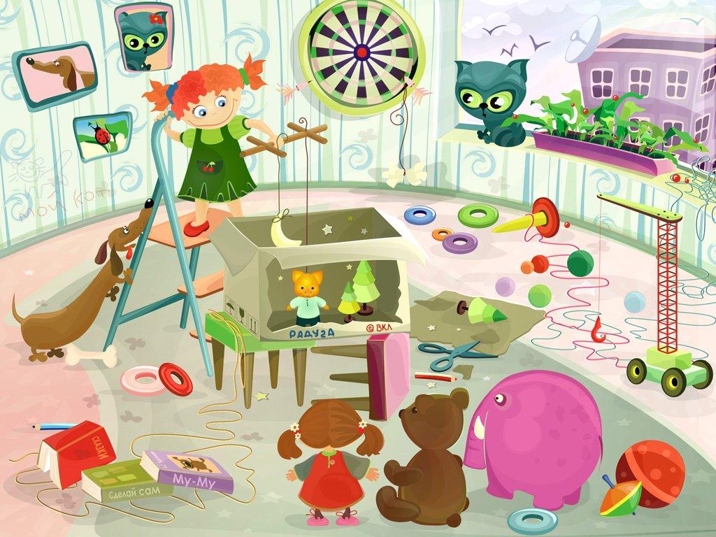 Cartoons Wallpaper: Kindergarden