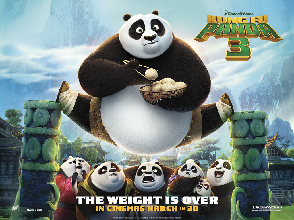 Cartoons Wallpaper: Kung Fu Panda 3