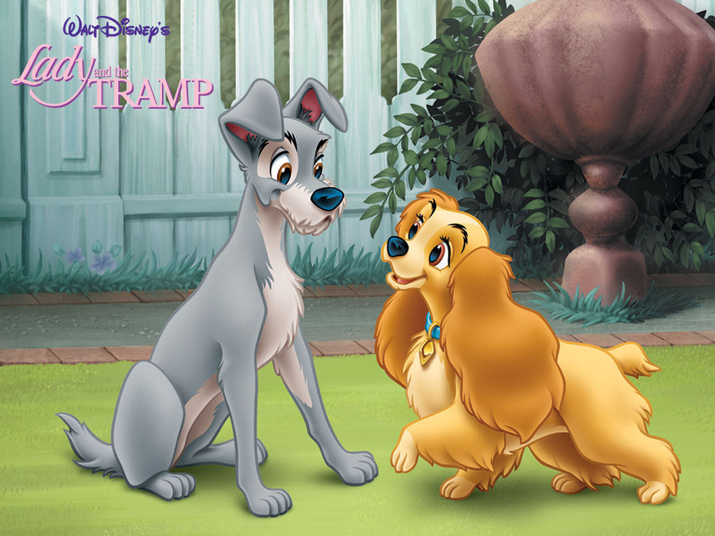 Cartoons Wallpaper: Lady and the Tramp