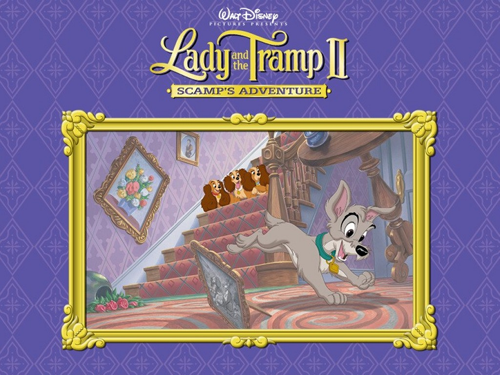 Cartoons Wallpaper: Lady and the Tramp - Scamp
