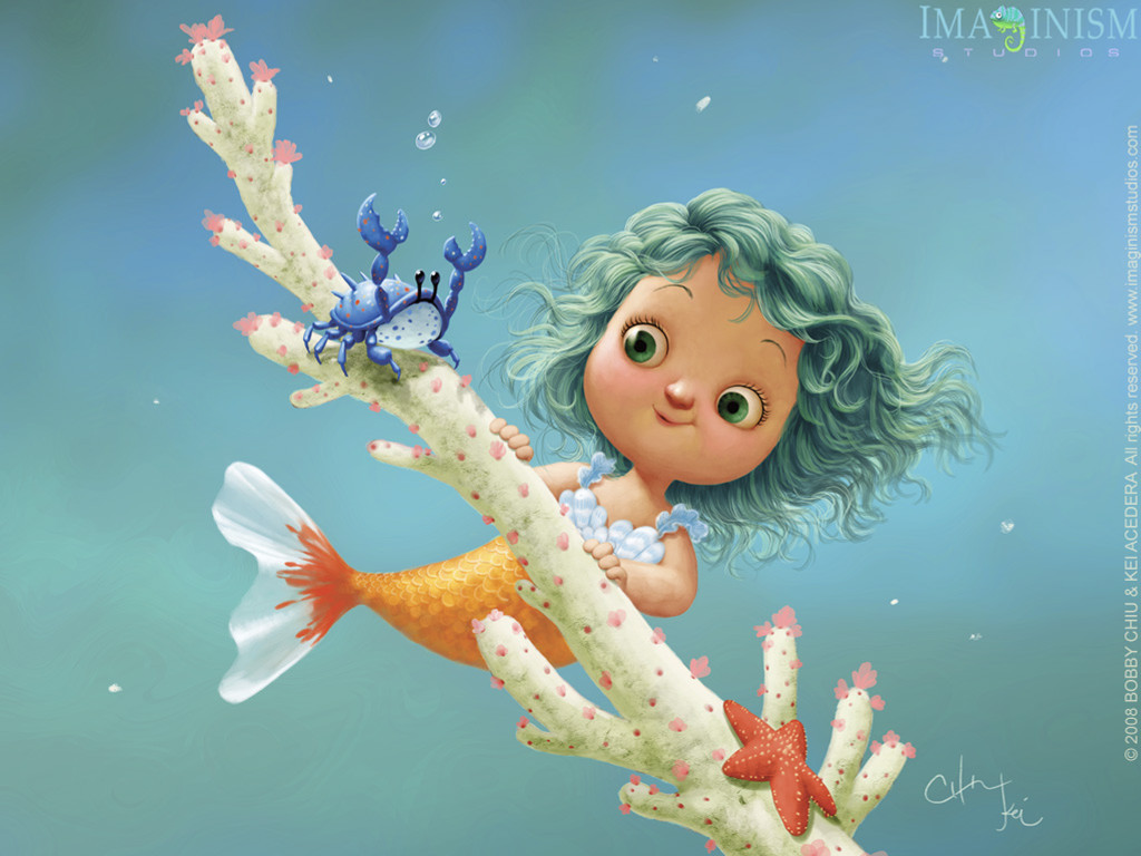 Cartoons Wallpaper: Lil Mermaid