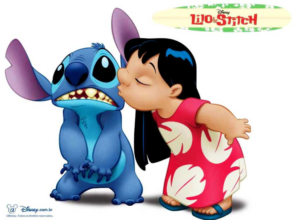 Cartoons Wallpaper: Lilo and Stitch - Kiss