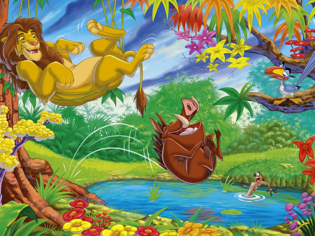 Cartoons Wallpaper: Lion King