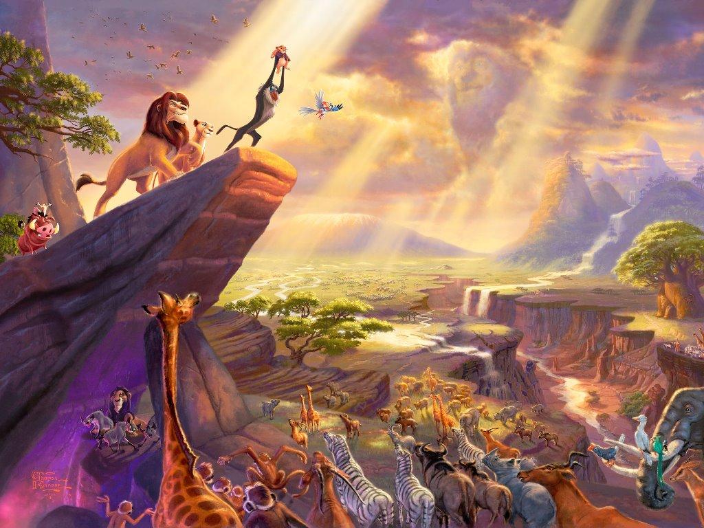 Cartoons Wallpaper: Lion King - Painting