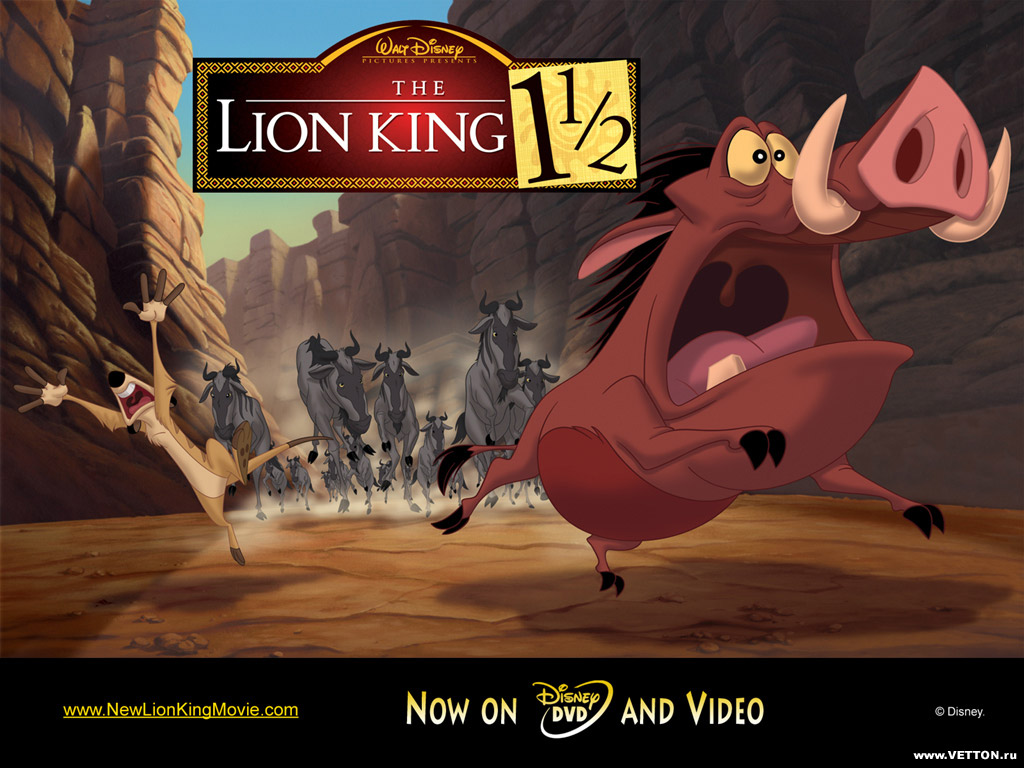 Cartoons Wallpaper: Lion King - Timon and Pumbaa