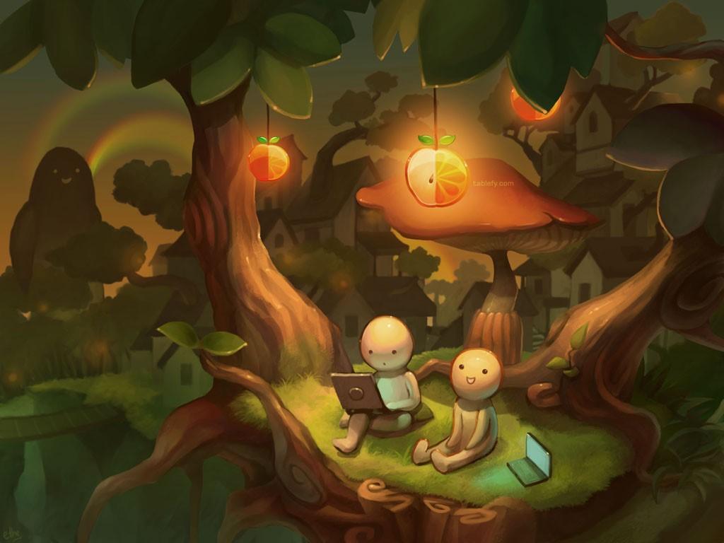 Cartoons Wallpaper: Little Light
