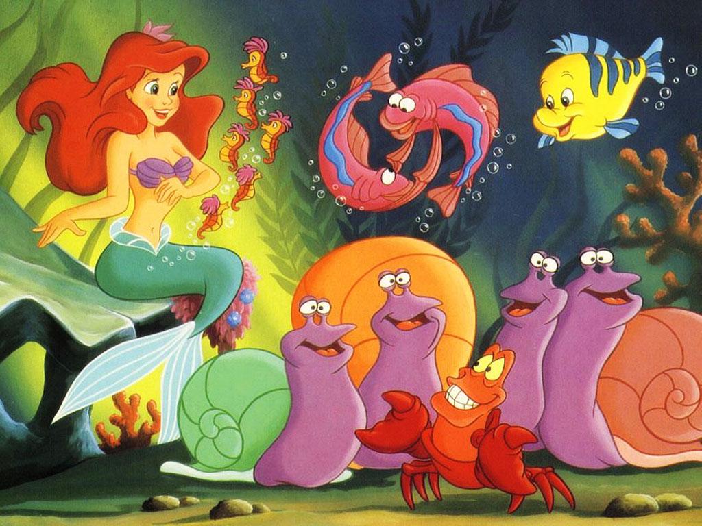 Cartoons Wallpaper: Little Mermaid - Party