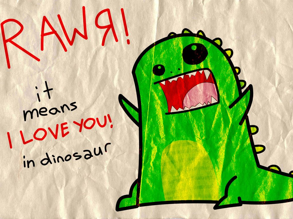 Cartoons Wallpaper: Lovely Dinosaur