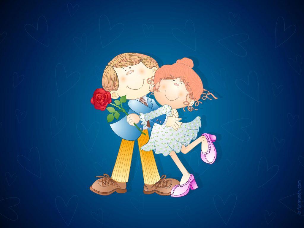 Cartoons Wallpaper: Lovely Couple