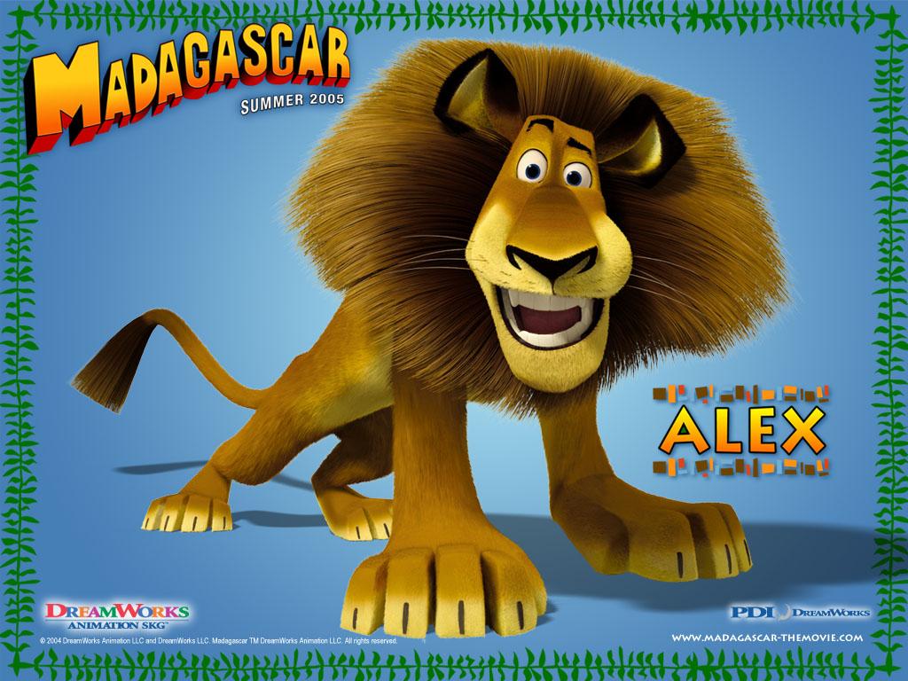 Cartoons Wallpaper: Madagascar - Alex