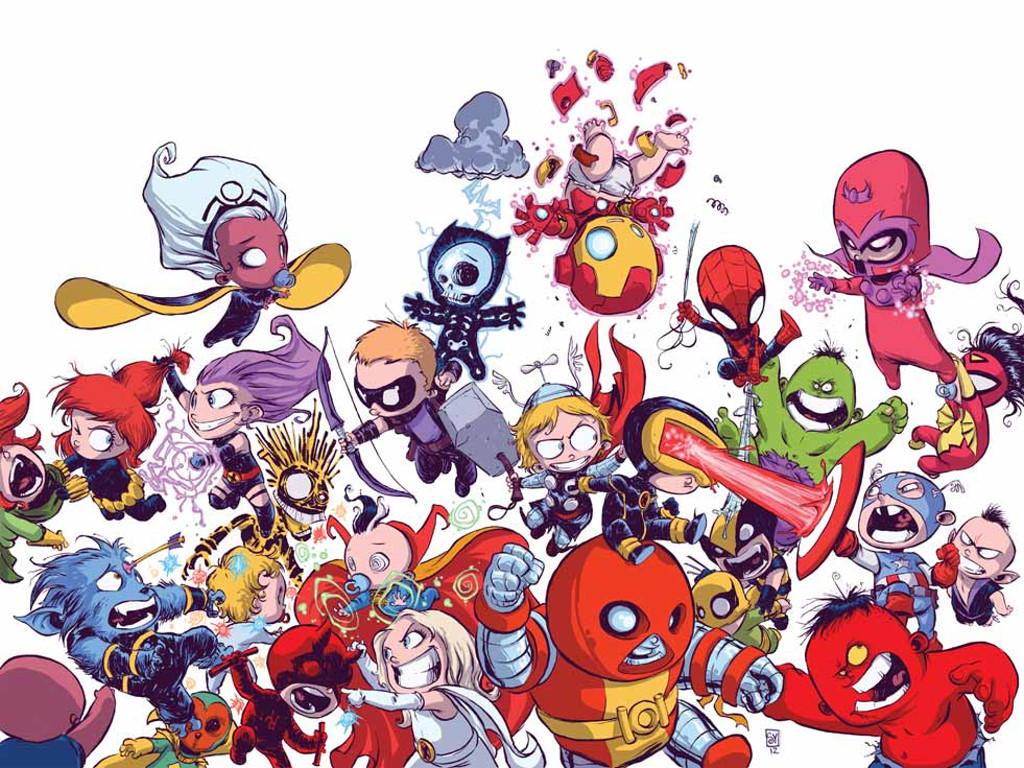 Cartoons Wallpaper: Marvel Babies