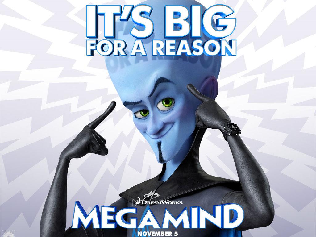 Cartoons Wallpaper: Megamind