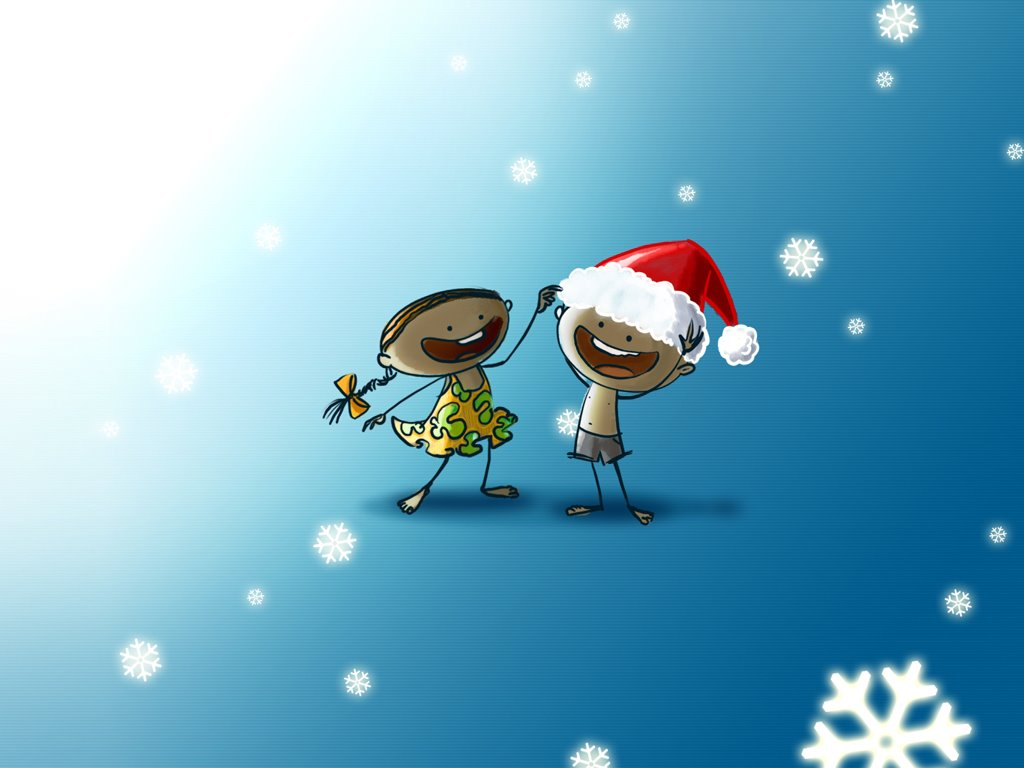 Cartoons Wallpaper: Merry Christmas