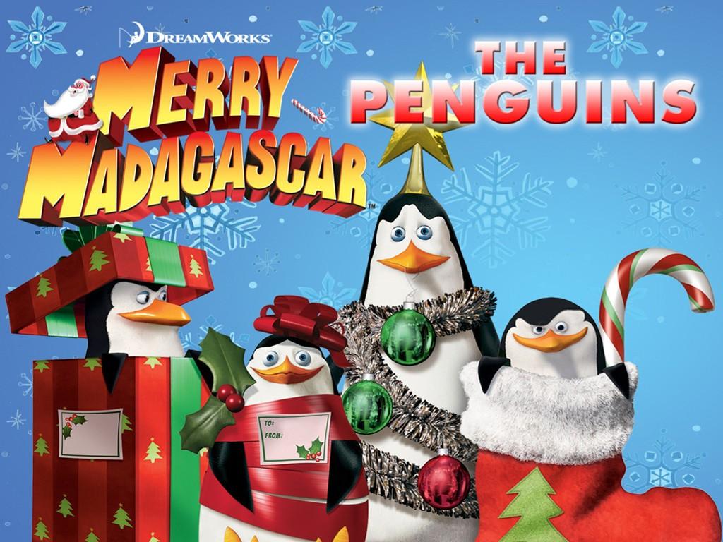 Cartoons Wallpaper: Merry Madagascar