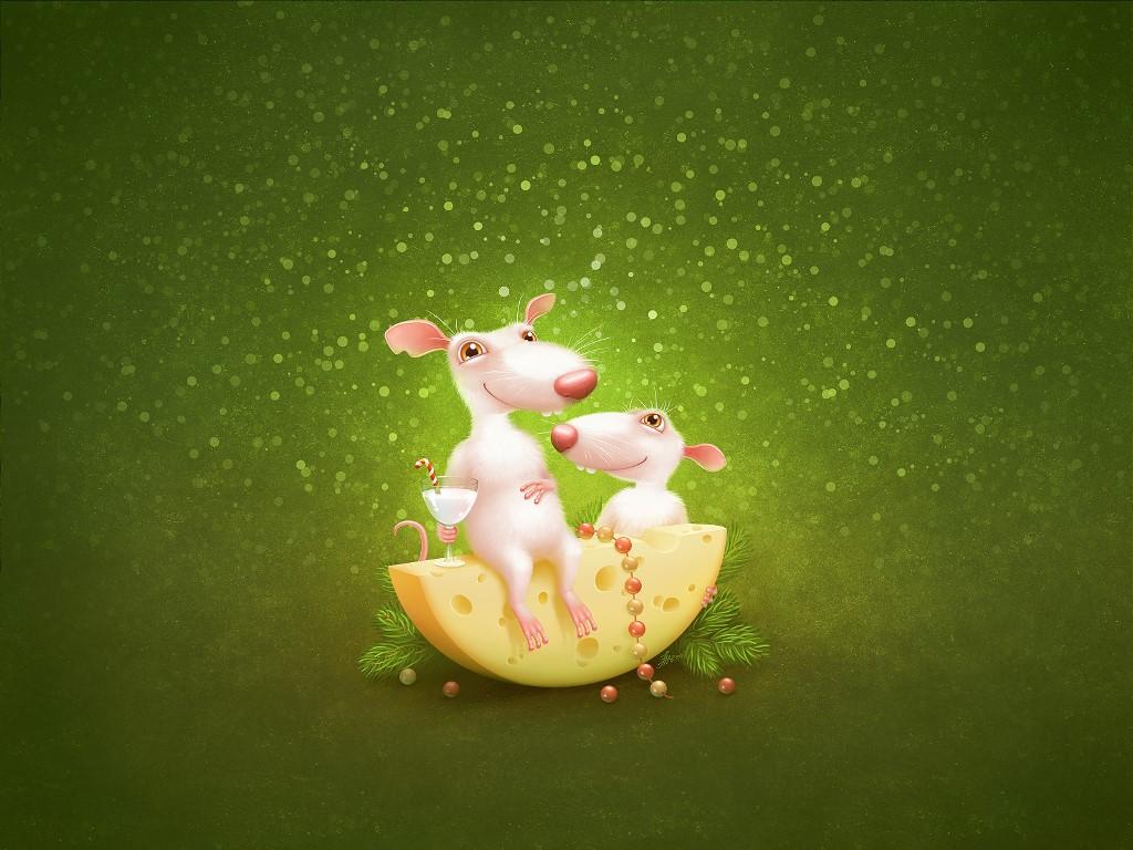 Cartoons Wallpaper: Mice - Christmas