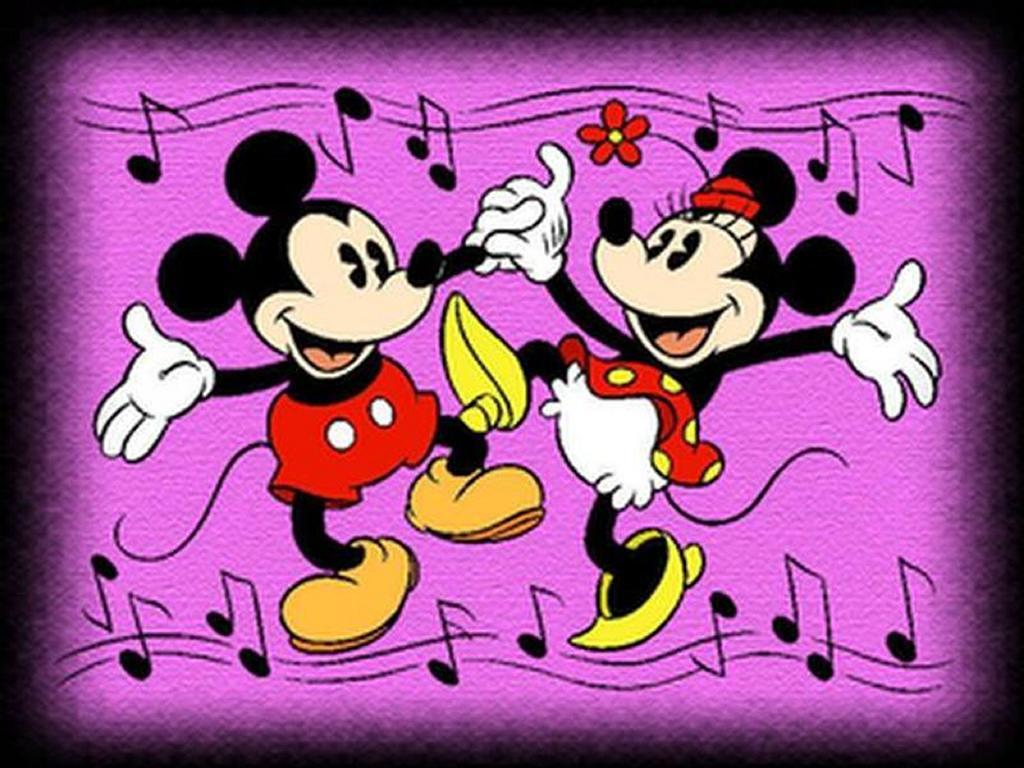 Cartoons Wallpaper: Mickey and Minnie Dancing