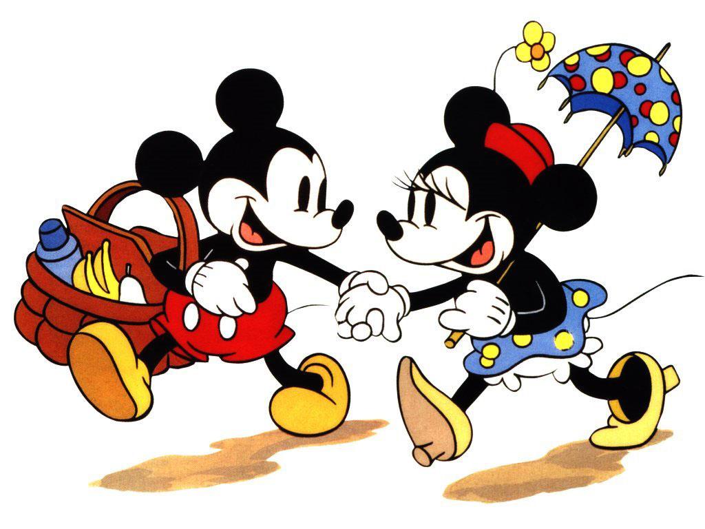 Cartoons Wallpaper: Mickey and Minnie - Picnic